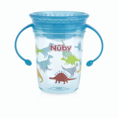Luv N' Care, Ltd. Nuby Tritan 8oz Two Handle Wonder Cup with Hygienic Cover, Dinosaurs