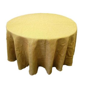 LA Linen TCBurlap132R-Natural Burlap Tablecloth Natural - 132 in. Round