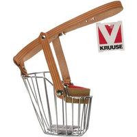 Kruuse Uk Metal Dog Muzzle With Leather Strap Size 10