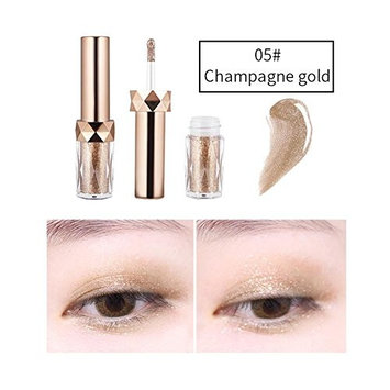 JaneDream Pro Makeup 6 Colors Liquid Eyeshadow Women Sexy Smoky Shimmer Metallic Glitter Eyeliner Eye Shadow 05#