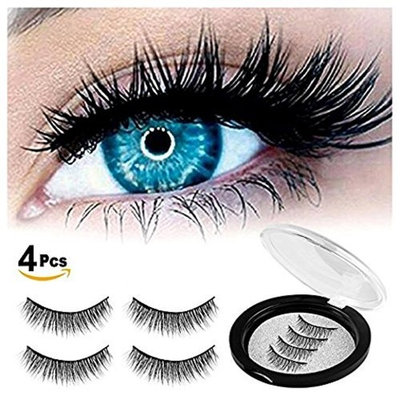 HOBO Dual Magnetic Eyelashes - Ultra Thin Magnetic False 3D Eyelash (4 piece), Best Reusable and Easy to Apply Ultra Thin Dual Magnet System