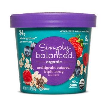 Organic Triple Berry Multigrain Chia Oatmeal Cup - 1.9oz - Simply Balanced™