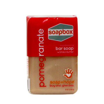 SoapBox Bar Soap, Pomegranate, 8 Oz