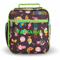 Personalized Playful Print Lunch Box, Name