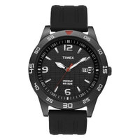 Men's Timex Watch with Resin Strap - Black T2N694JT