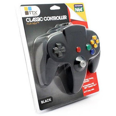TTX Tech Classic Controller OG for Nintendo 64 - Black