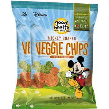Disney Mickey Mouse Shaped Veggie Chips Children's Healthy Snacks 6.75 Oz