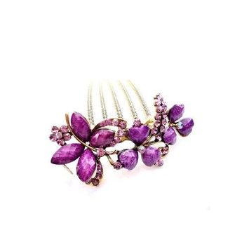 Retro fashion hair jewelry, handmade diamond hairpin/hair comb/hair ornaments YHQ001,champagne