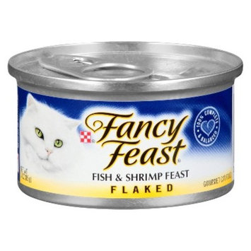 Purina Fancy Feast Flaked Fish & Shrimp Feast Cat Food 3 oz. Can