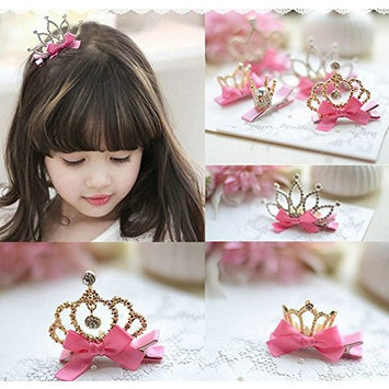 Joyci Infant Girl's Diamond Crown Hair Pin Princess Hair Clips Kids Party Hair Accessory
