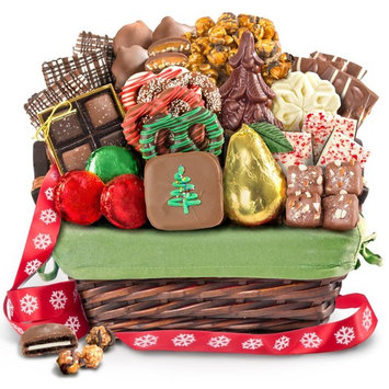 Christmas Holiday Chocolate Bliss Handmade Assortment Gift Basket [Christmas Holiday]