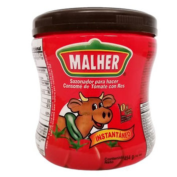 Malher Tomato Beef Bouillon 16 oz - Consome De Tomate y Res (Pack of 12)