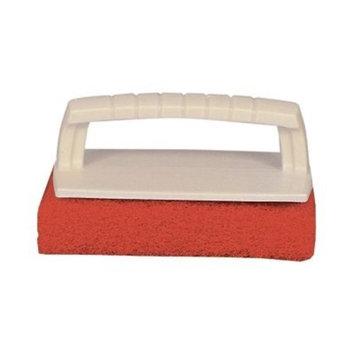 Star Brite Scrub Pad with Handle (Medium) (Red)