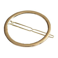 MSmask Gold Plated Hair Clip Hairpins Geometry Round Lovely Simple Hollow Out