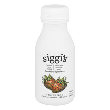 Siggi's Strawberry Whole Milk Yogurt Drink, 8 Fl. Oz.