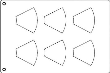 Pastry Design Group Tuile Template, Cone, 3-5/8 x 3 Each. Overall Sheet 10.5 x 15.5