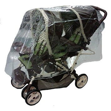 Sashas Rain and Wind Cover for Front and Back Tandem Stroller
