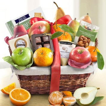 Deluxe Gourmet Fruit Basket Gift [All Occasion]