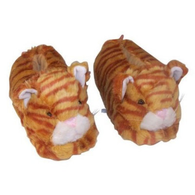 Happy Feet Mens and Womens Cat Animal Slippers