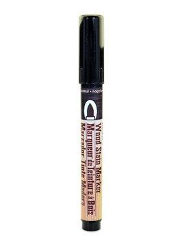Marvy Uchida Wood Stain Markers brush tip, dark walnut [pack of 6]