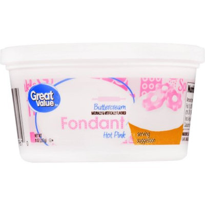 Great Value Hot Pink Buttercream Fondant