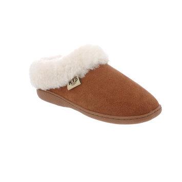 RJ's Fuzzies Chestnut Leather Sunrise Scuffs Slippers (Size 5) RJS 110-5