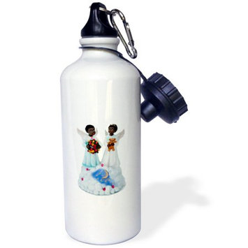 3dRose African-American angels, Sports Water Bottle, 21oz