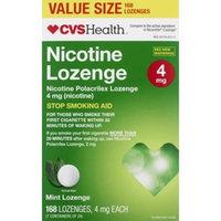 CVS Health Nicotine Polacrilex Stop Smoking Aid Lozenges 4mg, 168CT