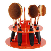 NOMENI 10 Hole Oval Makeup Brush Holder Drying Rack Organizer Cosmetic Shelf Tool