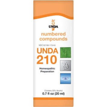 UNDA - UNDA 210 Numbered Compounds - Homeopathic Preparation - 0.7 fl oz (20 ml)