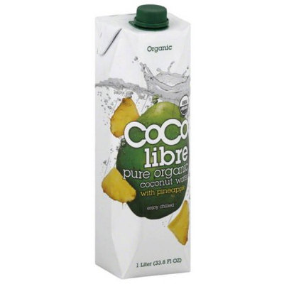 Coco Libre Coconut Water, Pure Organic, with Pineapple, 33.8 Fluid Ounce (Pack of 4)