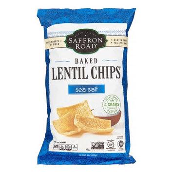 Saffrd Saffron Road Lentil Chips, Sea Salt, Baked, 4 Oz