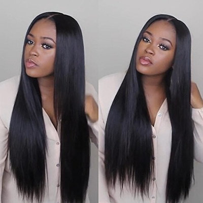 Ninilady Glueless Lace Front Wigs Human Hair With Baby Hair 8A Brazilian Virgin Hair Straight Pre Plucked Full Lace Human Hair Wigs for Black Women Bleached Knots