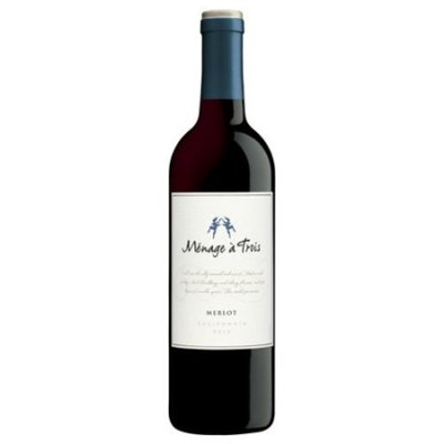 Menage a Trois Merlot, Red Wine, 750 ML