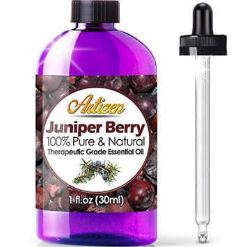 Artizen Juniper Berry Essential Oil (100% PURE & NATURAL - UNDILUTED) Therapeutic Grade - Huge 1oz Bottle - Perfect for Aromatherapy, Relaxation, Skin Therapy & More!