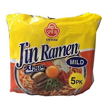 Ottogi Korean Ramen Family Pack (Mild, 4 Pack)