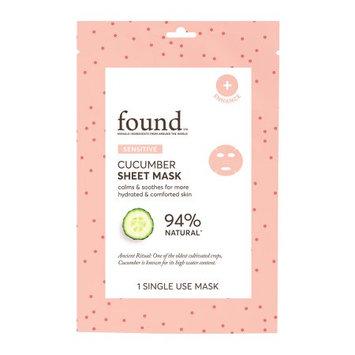 Hatchbeauty Products FOUND SENSITIVE Cucumber Sheet Mask, 1 Single Use Mask