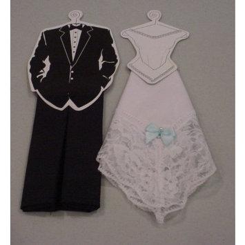 Occasions in Splendor 2 Piece Bride and Groom Hankie Set,Black,White