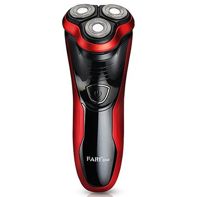 FARIONE Rechargeable Electric Shaver with Pop-up Trimmer, Wet & Dry Electric Shaving Razor for Men, Black