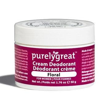 Purelygreat Natural Deodorant for Women, EWG Verified Deodorant, Vegan and Cruelty Free, Aluminum and Paraben Free, All Natural Deodorant - Floral Scent