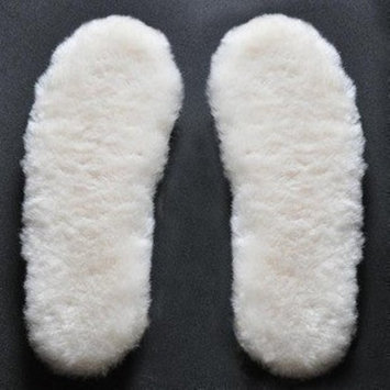 Happystep Genuine Sheepskin Lambswool Cushioning Shearling Winter Insoles with Felt Comfort sole