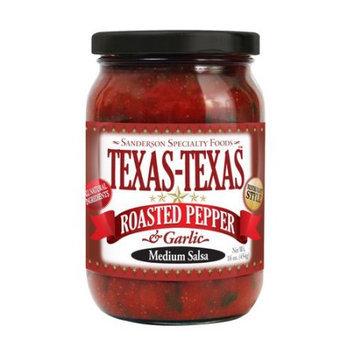 Texas-Texas Roasted Pepper & Garlic Medium Salsa, 16 oz