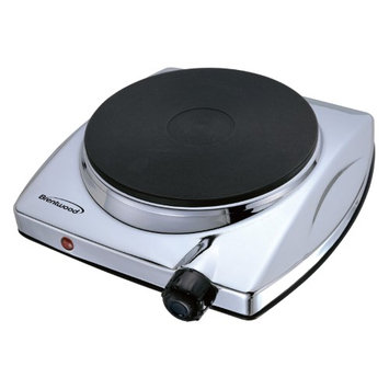 Brentwood Appliances Brentwood TS337 Electric 1000w Single Hotplate [chrome Finish]