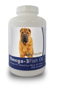 Healthy Breeds 840235141280 Chinese Shar Pei Omega-3 Fish Oil Softgels 180 Count