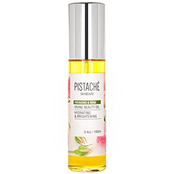 Pistachio & Rose Divine Beauty Oil by Pistaché Skincare – Hydrating & Brightening - for Face, Body & Hair
