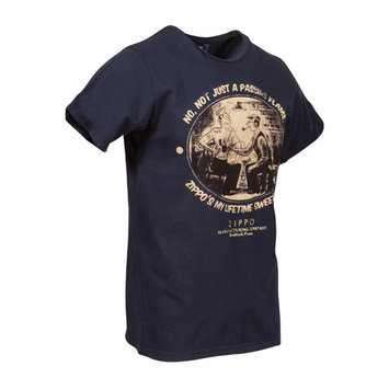 Zippo No, Not Just A Passing Flame Shirt - Navy