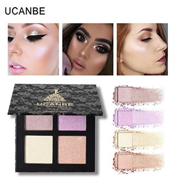 Creazy Professional New Makeup Face Powder 4 Colors Chameleo Highlighter Powder Palette