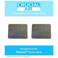 Crucial Brands 2 Hunter 30050, 30055, 30065, 37065, 30075, 30080 & 30177 Air Purifier Filters, Part # 30920