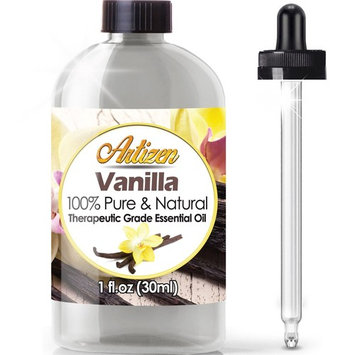 Artizen Vanilla Essential Oil (100% Pure & Natural - Undiluted) Therapeutic Grade - Huge 1oz Bottle - Perfect for Aromatherapy, Relaxation, Skin Therapy & More!