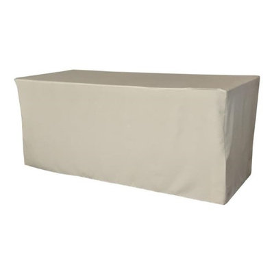LA Linen TCpop-fit-96x30x30-GrayLgtP41 2.77 lbs Polyester Poplin Fitted Tablecloth Light Gray